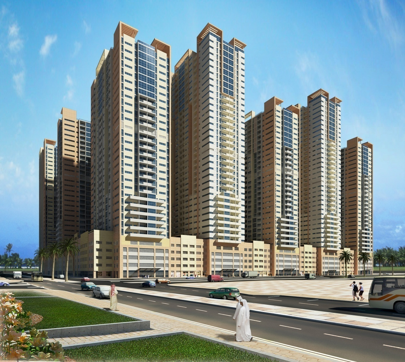 AJMAN ONE @ AJMAN (G+4P+26) 12 NO. TOWER